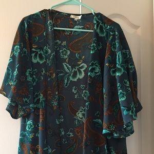 Turquoise kimono- size medium